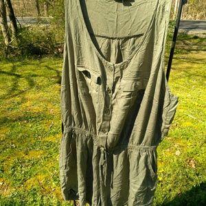 Plus Size 2x Olive Green Shorts Romper